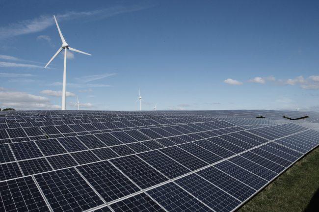 Vattenfal windpark zonnepark